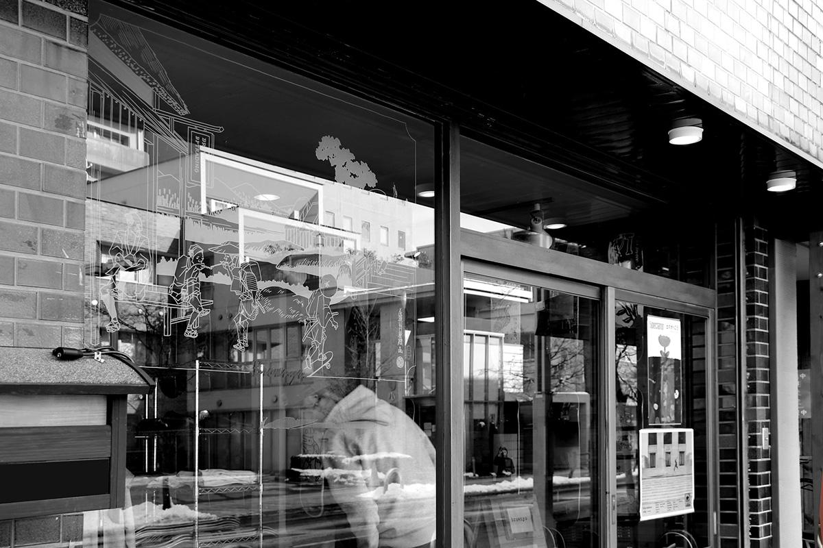 BROWNYS|店舗入り口絵画